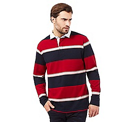 Maine New England - Big and tall red striped rugby shirt