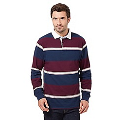 Maine New England - Dark purple multi striped rugby top