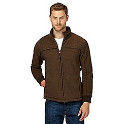 Maine New England - Big and tall Brown zip thru fleece