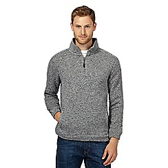 Maine New England - Grey funnel neck jumper