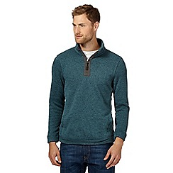 Maine New England - Big and tall light green knit effect jumper