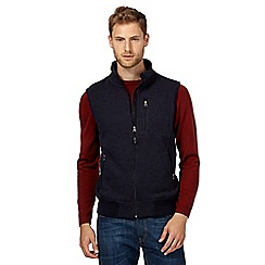 Maine New England - Dark blue knit gilet