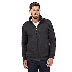 Maine New England - Dark grey fleece sweater