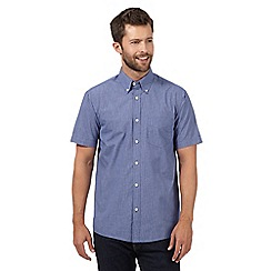 Maine New England - Big and tall blue mini checked shirt