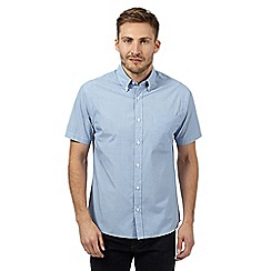 Maine New England - Big and tall pale blue fine striped shirt