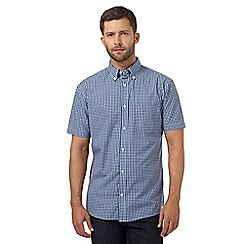 Maine New England - Blue classic checked shirt