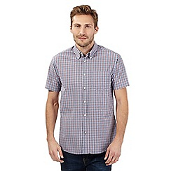 Maine New England - Big and tall red gingham short sleeved shirt