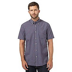 Maine New England - Dark blue checked pocket shirt