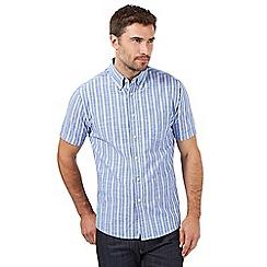 Maine New England - Blue striped oxford shirt