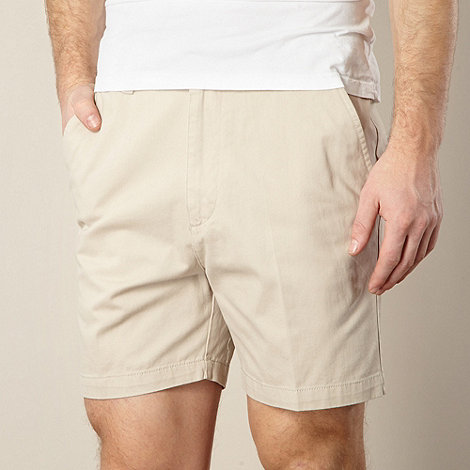 Maine New England - Big and tall flexi waist  natural flat front chino shorts