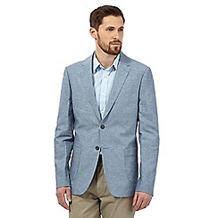 Maine New England - Big and tall blue ticking stripe blazer