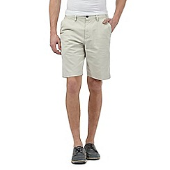 Maine New England - Big and tall off white chino shorts