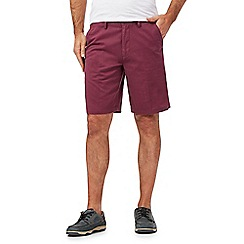Maine New England - Big and tall dark pink chino shorts