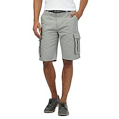 Maine New England - Big and tall grey belted cargo shorts