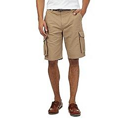 Maine New England - Beige belted cargo shorts