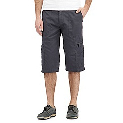 Maine New England - Big and tall navy bedford three quarter length shorts