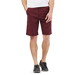 Maine New England - Big and tall dark red chino shorts