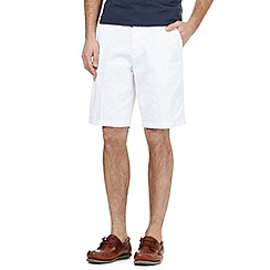 Maine New England - Big and tall white chino shorts