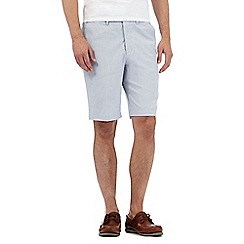 Maine New England - Big and tall blue fine stripe print tailored chino shorts