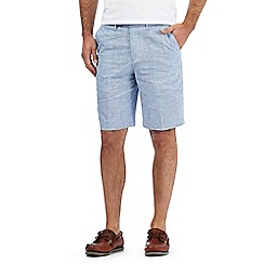 Maine New England - Big and tall blue textured shorts