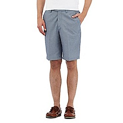 Maine New England - Big and tall navy fine striped chino shorts