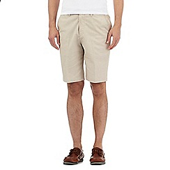 Maine New England - Big and tall beige fine striped chino shorts