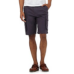 Maine New England - Big and tall dark blue textured cargo shorts