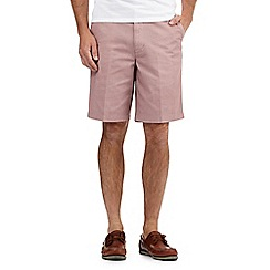 Maine New England - Big and tall pink textured cargo shorts