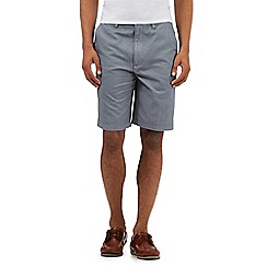 Maine New England - Big and tall navy woven print chino shorts