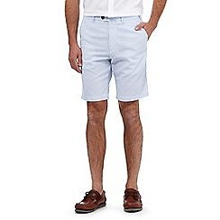 Maine New England - Big and tall pale blue striped shorts