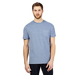 Maine New England - Big and tall blue textured stripe t-shirt