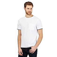 Maine New England - White textured tipped cuff t-shirt