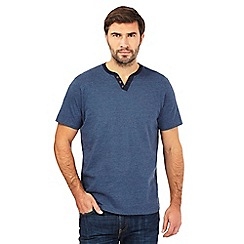 Maine New England - Dark blue notch neck t-shirt