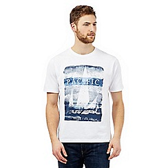 Maine New England - Big and tallwhite 'pacific' print t-shirt