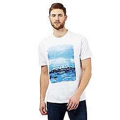 Maine New England - White 'Portland' skyline print t-shirt