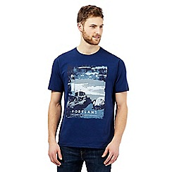 Maine New England - Dark blue 'Portland' print t-shirt