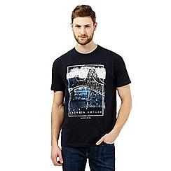 Maine New England - Big and tallnavy 'astoria' print t-shirt