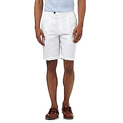 Maine New England - White textured chino shorts