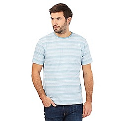Maine New England - Big and tall aqua fine striped t-shirt