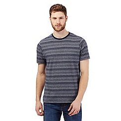 Maine New England - Big and tall navy striped crew neck t-shirt
