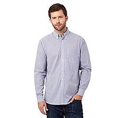 Maine New England - Big and tall Dark Blue Geo Print Long sleeve shirt