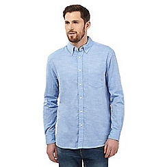 Maine New England - Big and tall light blue cotton long sleeved shirt