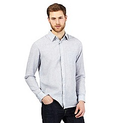 Maine New England - Light blue linen blend shirt