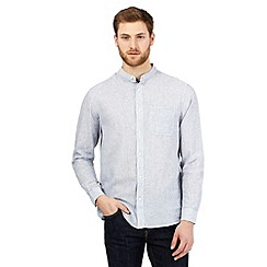 Maine New England - Light blue linen blend granddad shirt