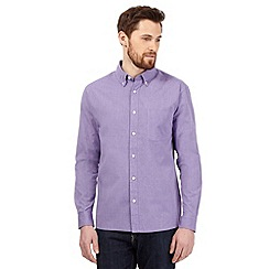 Maine New England - Big and tall purple button down collar shirt