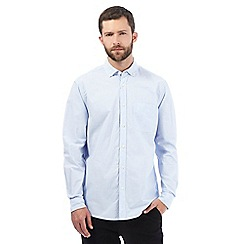 Maine New England - Big and tall blue hairline striped shirt