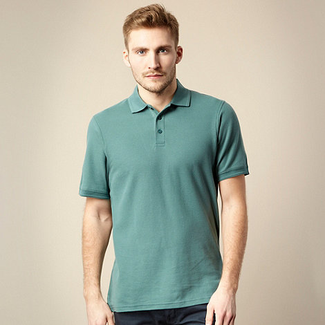 Maine New England - Dark turquoise pique polo shirt