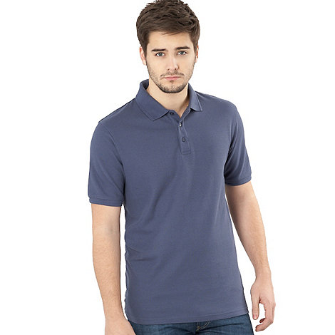 Maine New England - Big and tall dark blue pique polo shirt