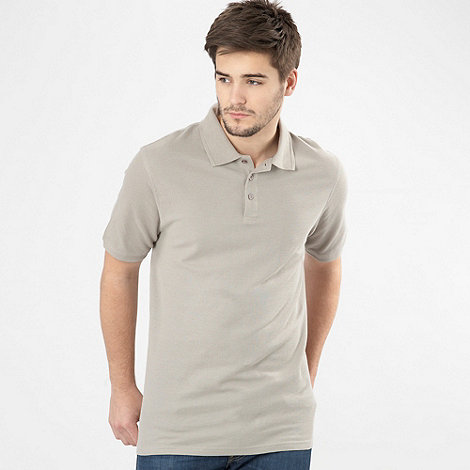 Maine New England - Natural pique polo shirt