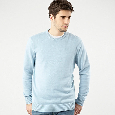 Maine New England - Big and tall light blue crew neck jumper